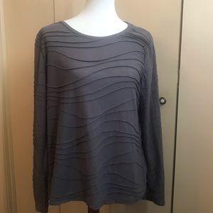 Simply Vera Sz XL Gray Textured  Pullover top